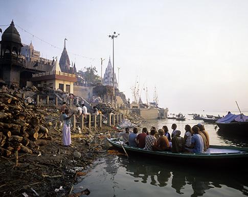 Inde, Vârânasî, Manikarnika Ghat