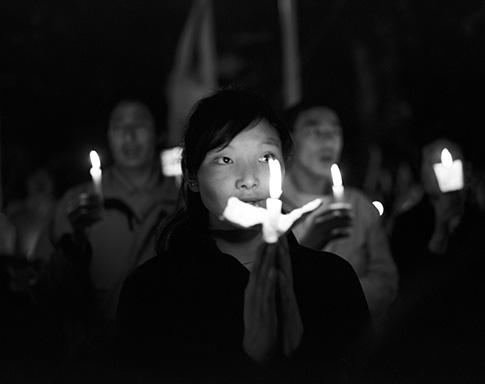 Manifestations tibétaines à Mc Leod Ganj